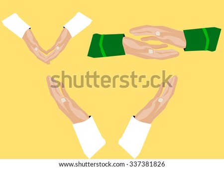 vector illustration of hand flat design