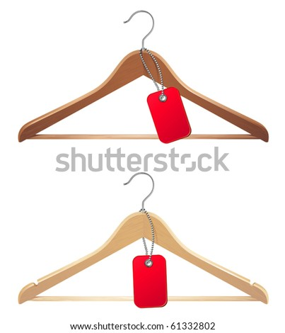 vector illustration of hanger with price tag