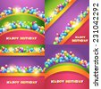 Vector Illustration of Happy Birthday Design Collections - stock photo