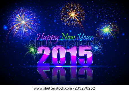 vector illustration of Happy New Year 2015 - stock vector