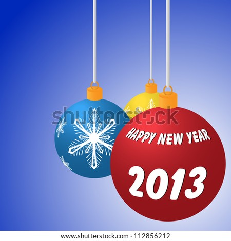 Vector illustration of Happy New Year balls - stock vector
