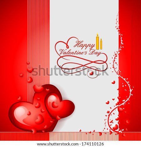 vector illustration of Happy Valentine's Day background with heart - stock vector