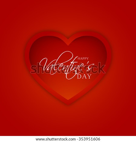 Vector Illustration of Happy Valentine's Day greeting card.