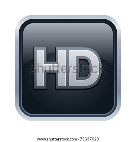 Vector illustration of HD icon