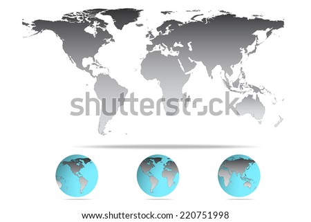 Vector illustration high detail grey color stock vector 220751998 vector illustration of high detail grey color world map gumiabroncs Gallery