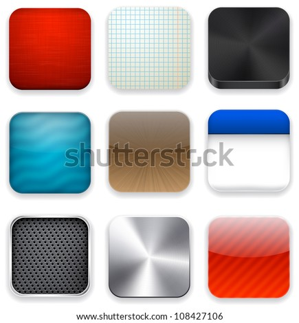 Vector illustration of high-detailed apps icon set. - stock vector