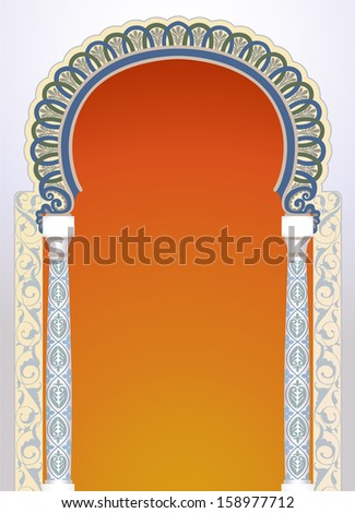 Vector illustration of high detailed floral arch in EPS10 format - stock vector