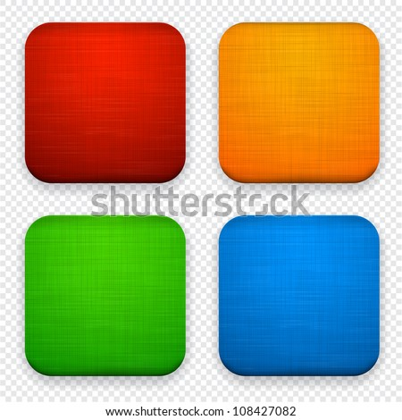 Vector illustration of high-detailed linen apps icon set. - stock vector