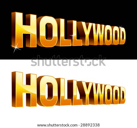vector illustration of Hollywood - stock vector