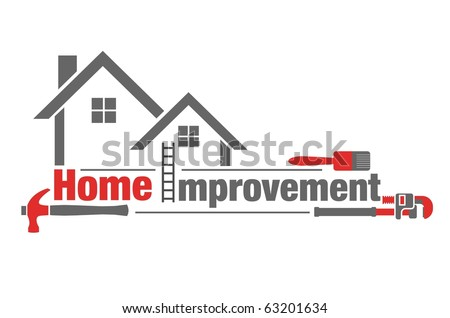 Vector illustration of home improvement icon on white background - stock vector