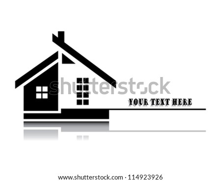 Vector illustration of home on white background - stock vector