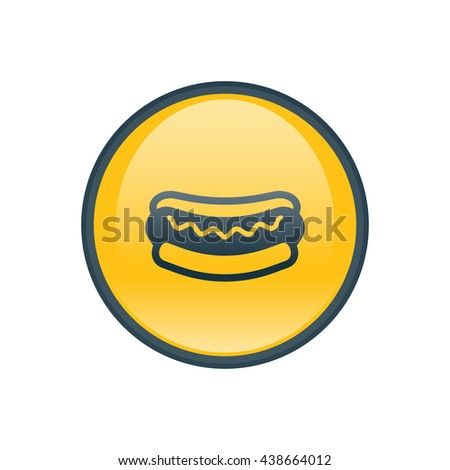 Vector illustration of hot dog icon