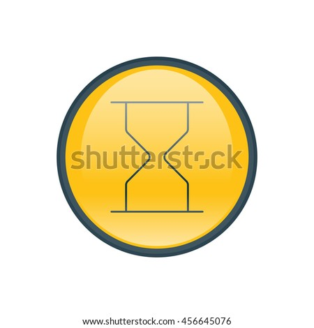 Vector illustration of hourglass icon