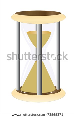 Vector illustration of hourglass under the white background
