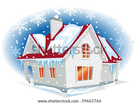 Vector Illustration of house - stock vector