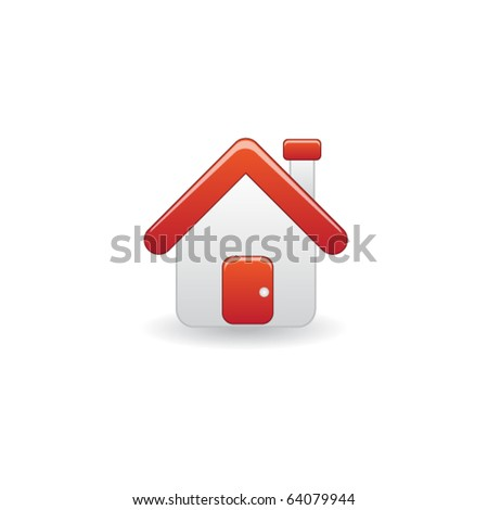Vector Illustration of house icon - stock vector