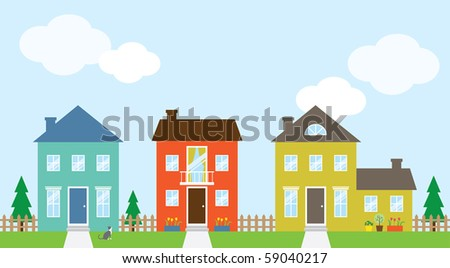 Vector illustration of houses. - stock vector