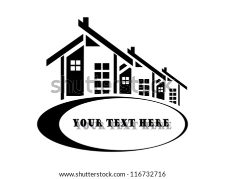 Vector illustration of houses on white background - stock vector