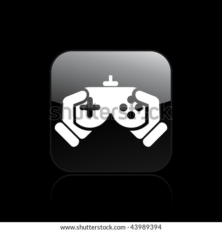 Vector illustration of icon isolated in a modern style, depicting a videogame controller - stock vector
