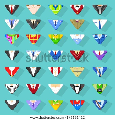 vector illustration of icon of different profession and services - stock vector