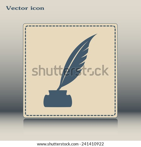Vector illustration of icon writing pen - stock vector