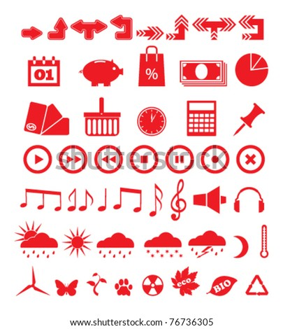 Vector illustration of icons - stock vector