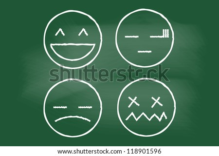 vector illustration of icons emotions - stock vector