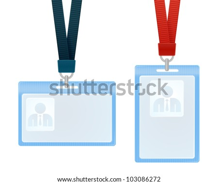Vector illustration of identification cards with place for photo and text - stock vector