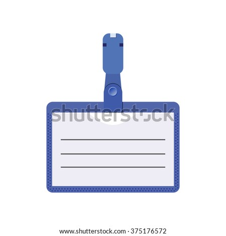 Vector illustration of identification cards with place for  text