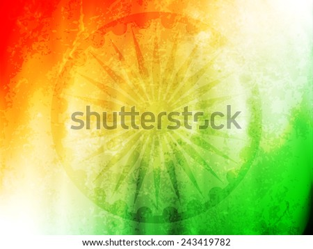 vector illustration of Indian flag theme background for Indian Republic day and Independence day.  - stock vector