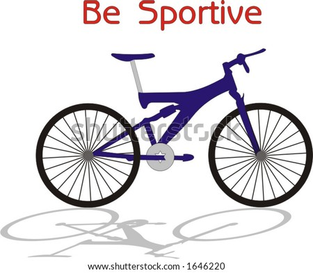 vector illustration of industrial crafted sportive bicycle - stock vector