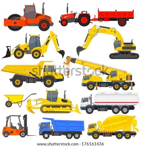 vector illustration of industrial transportation machine - stock vector