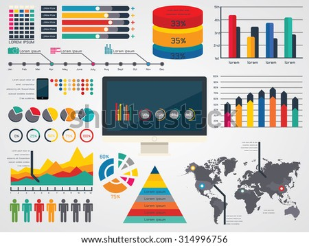 vector illustration of Infographic Elements - stock vector