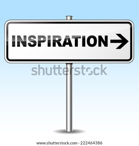 Vector illustration of inspiration design sign on white background  - stock vector