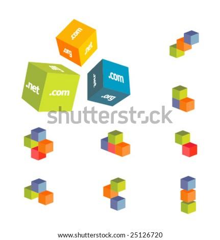 vector illustration of internet - stock vector