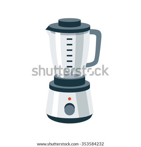Vector illustration of isolated kitchen blender mixer food grinder in cartoon style. - stock vector