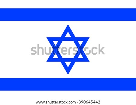 Vector illustration of Israel flag