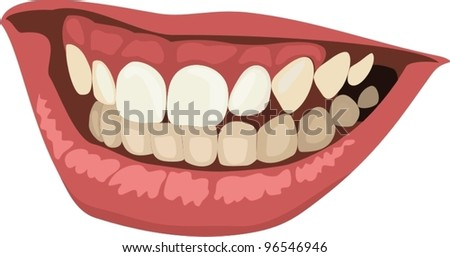 Vector illustration of  joyful smile