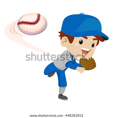 Kid throwing baseball