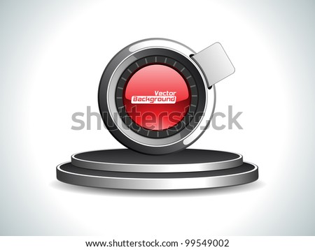 Vector illustration of label or sticker in blue, magenta and green color, isolated on white color. Use as tag, icon and button.