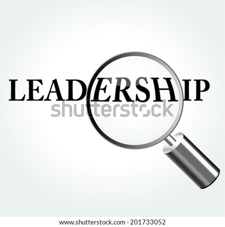 Vector illustration of leadership concept with magnifying