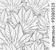 Vector illustration of leaves. (Seamless Pattern) - stock vector