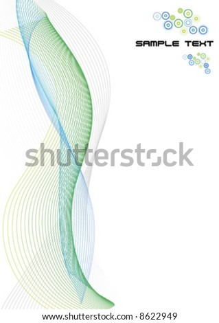 Vector illustration of lined art on a blank white background with template logo or ad message in the corner. Clean. - stock vector
