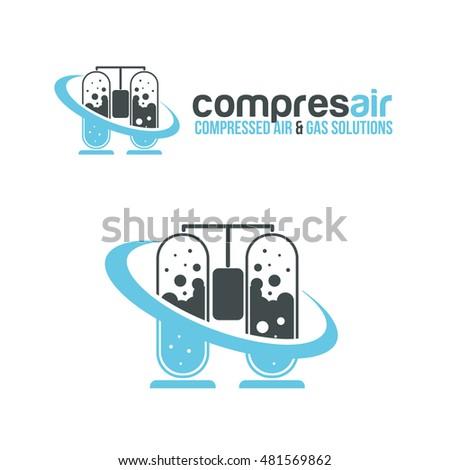 Vector Illustration Logo Concept Design Containers Stock Vector