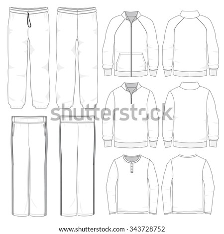 Vector Illustration of Lounge wear garments. - stock vector