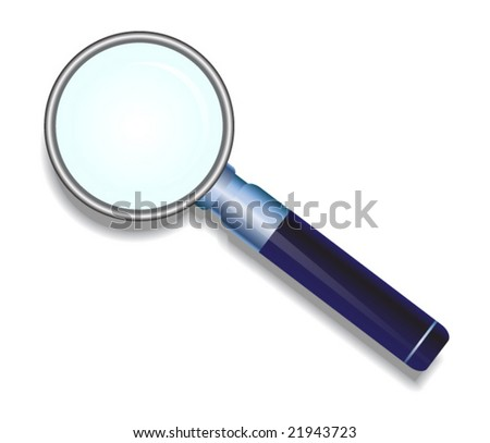 vector illustration of magnified glass - stock vector