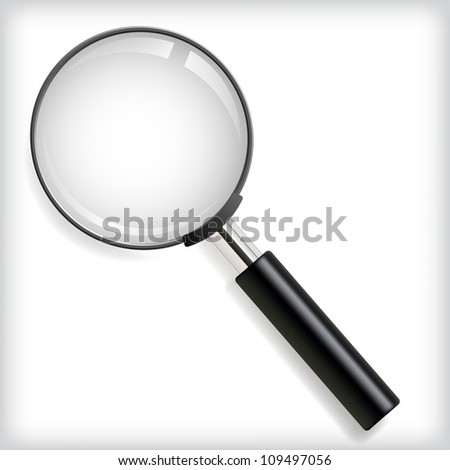 Vector illustration of magnifying glass. - stock vector
