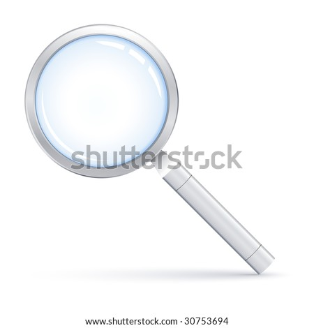 Vector illustration of Magnifying glass