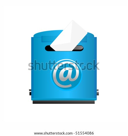 vector illustration of mailbox - stock vector