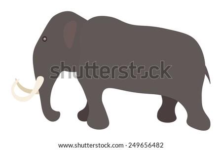 Vector illustration of mammoth - stock vector